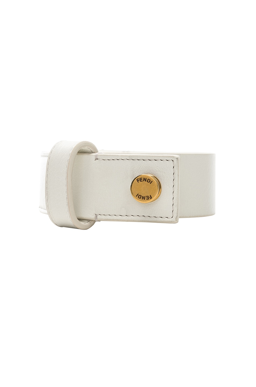 Image 3 of Fendi Medium Belt in White