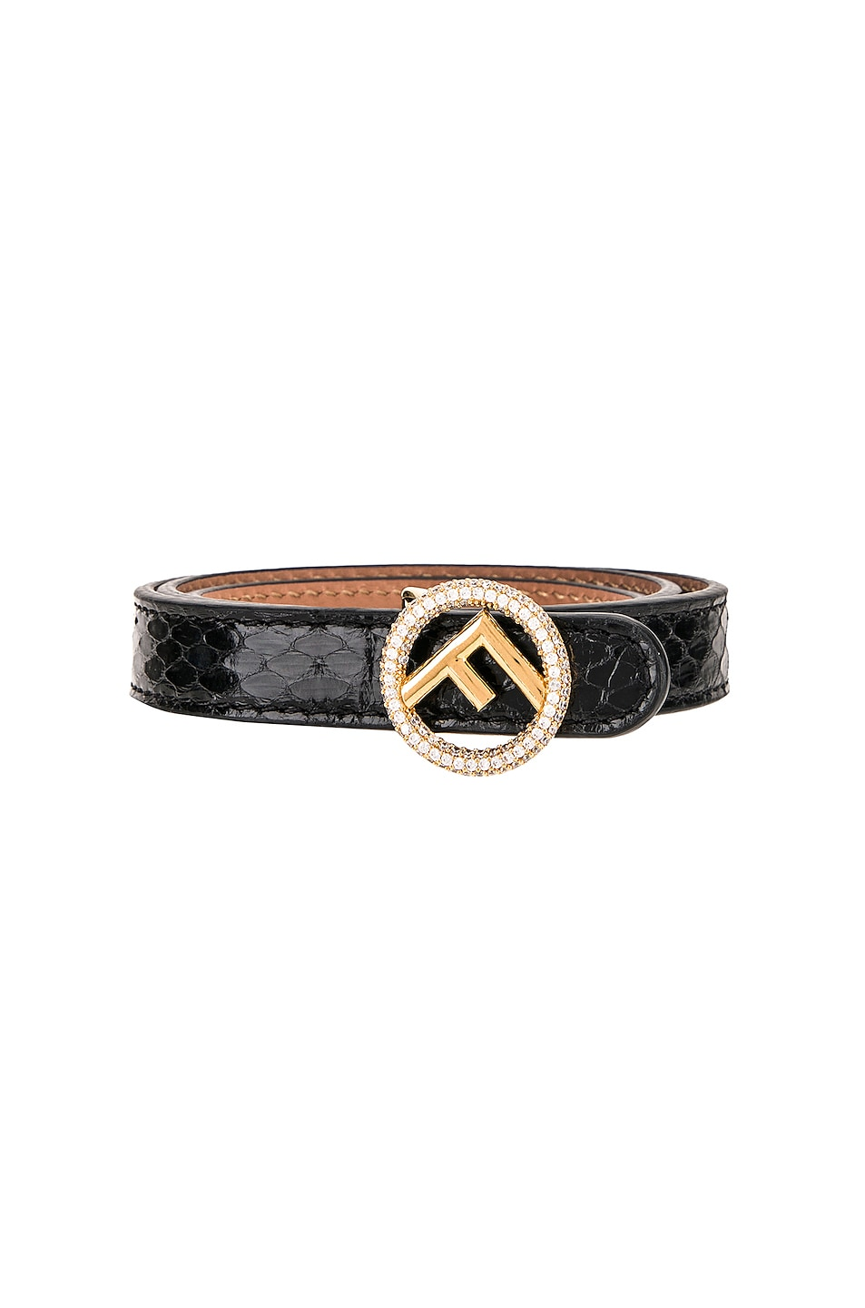Image 1 of Fendi Small Logo Belt in Black