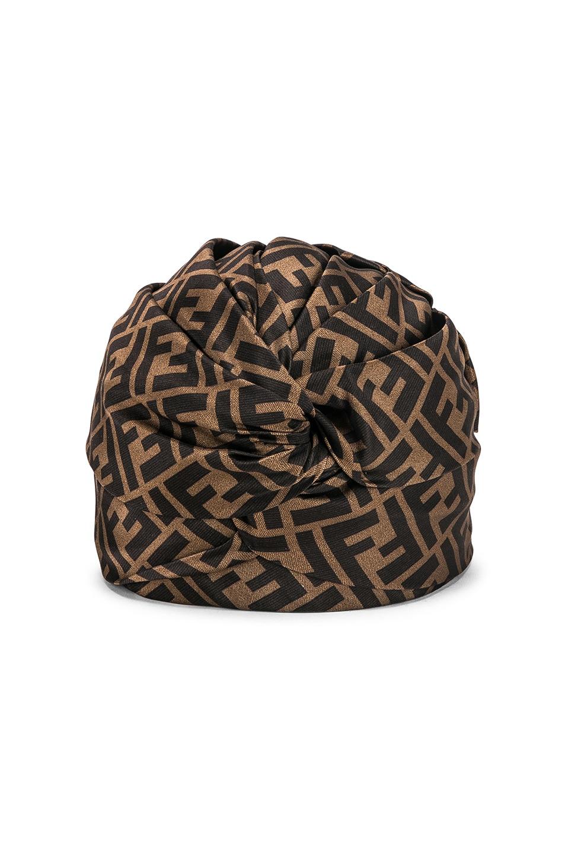 Image 1 of Fendi Logo Hat in Brown
