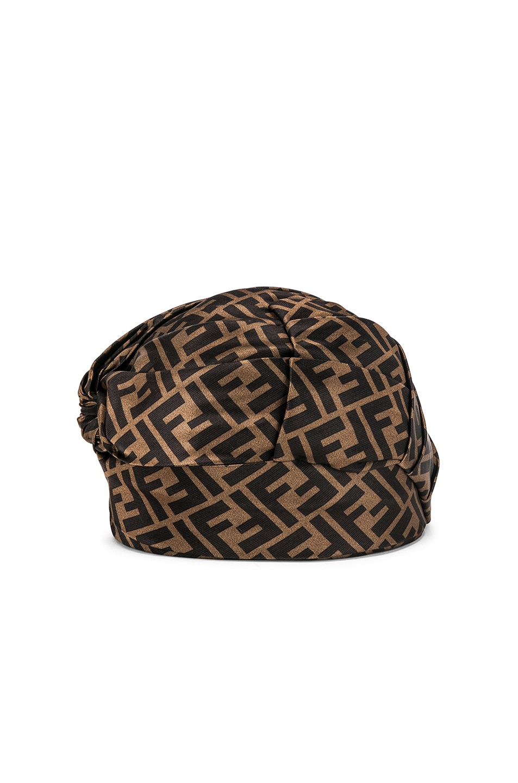 Image 3 of Fendi Logo Hat in Brown