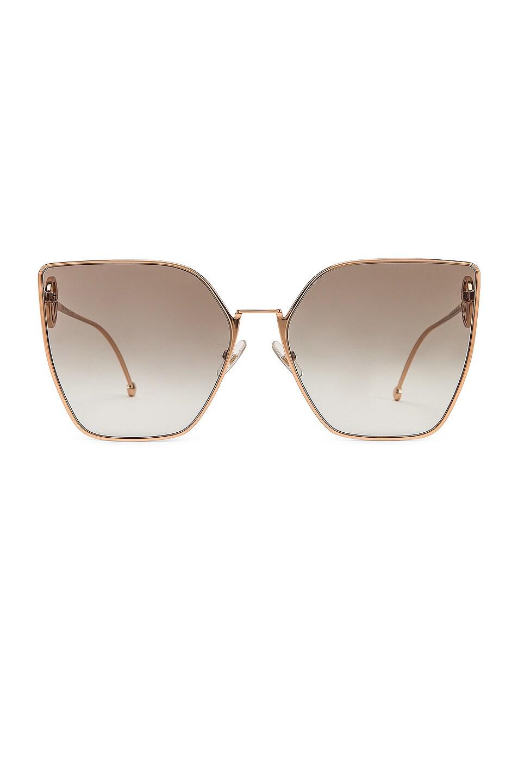 Image 1 of Fendi Oversized Square Sunglasses in Gold & Copper