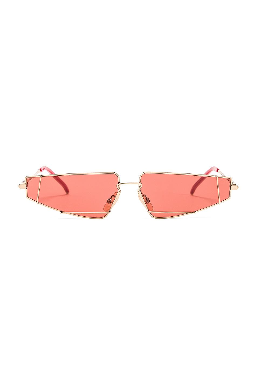 Image 1 of Fendi Skinny Cat Eye Sunglasses in Red