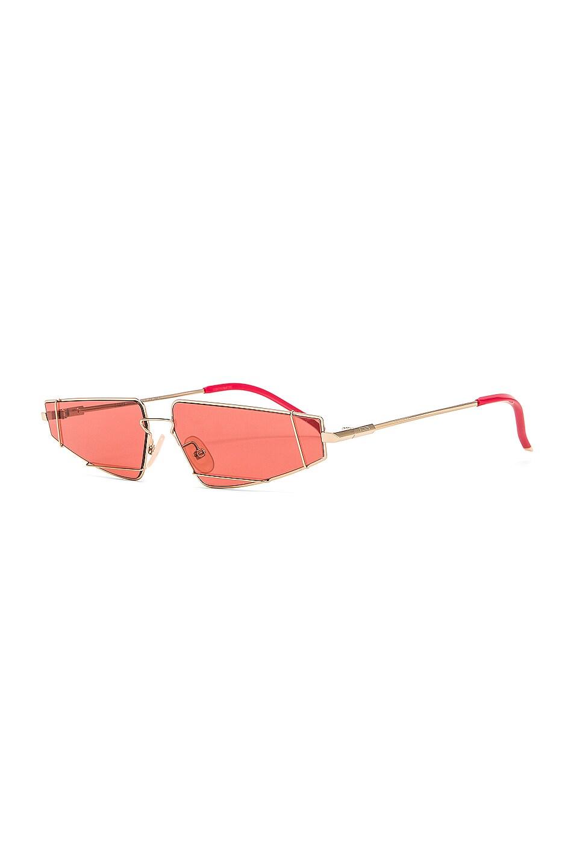 Image 2 of Fendi Skinny Cat Eye Sunglasses in Red