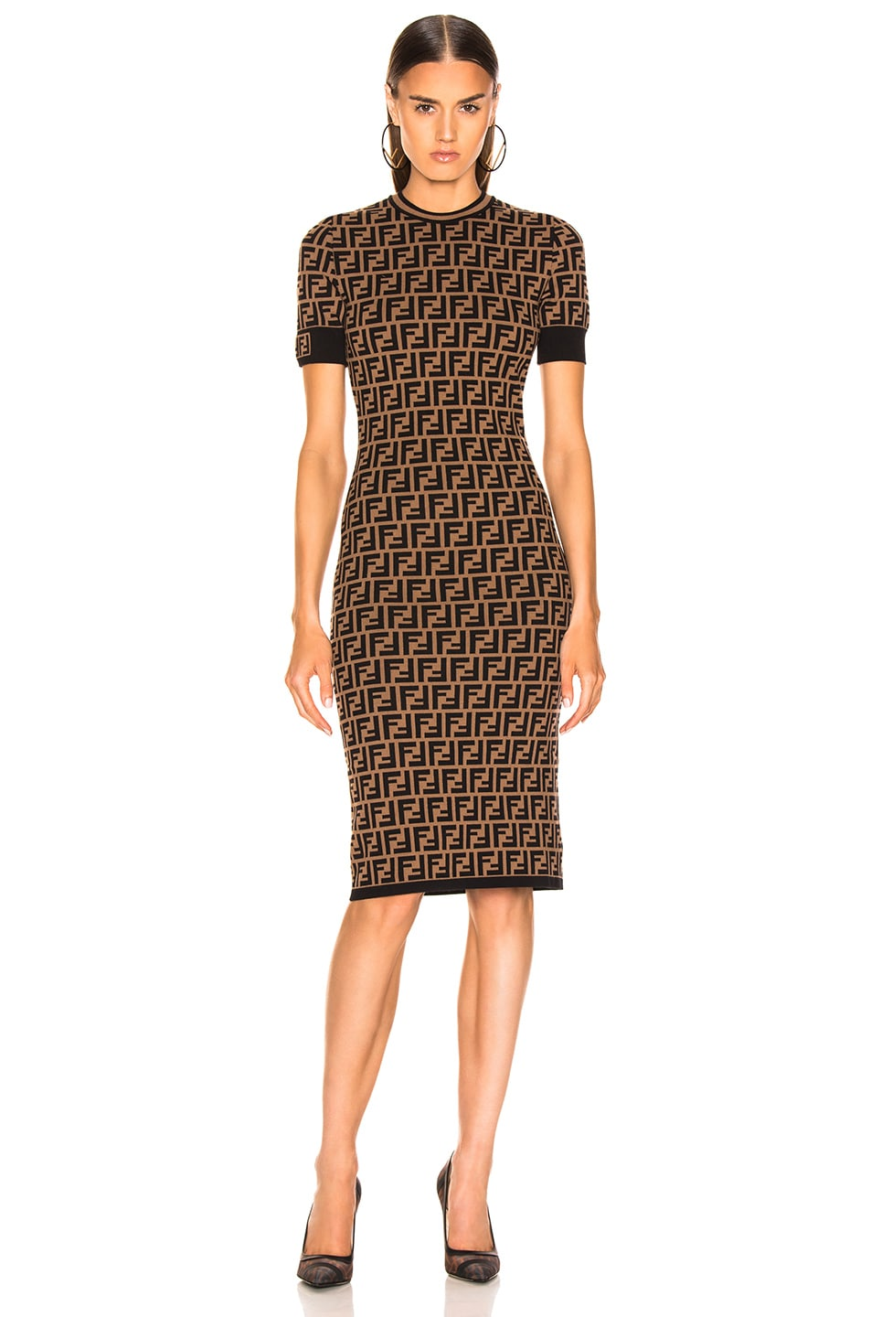 Image 2 of Fendi Knit Dress in Tobacco