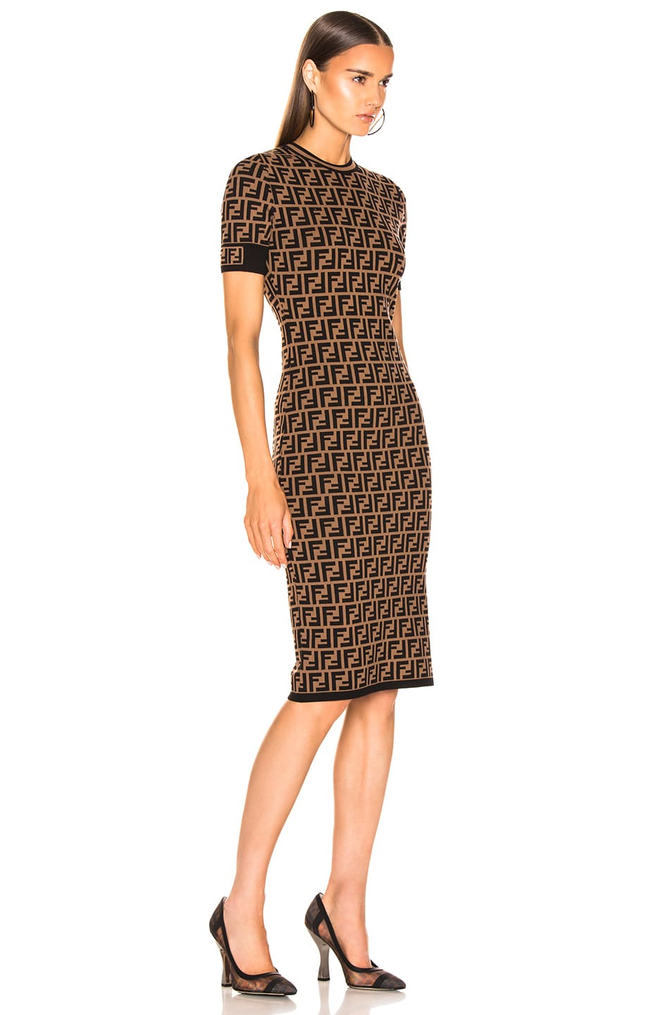 Image 3 of Fendi Knit Dress in Tobacco