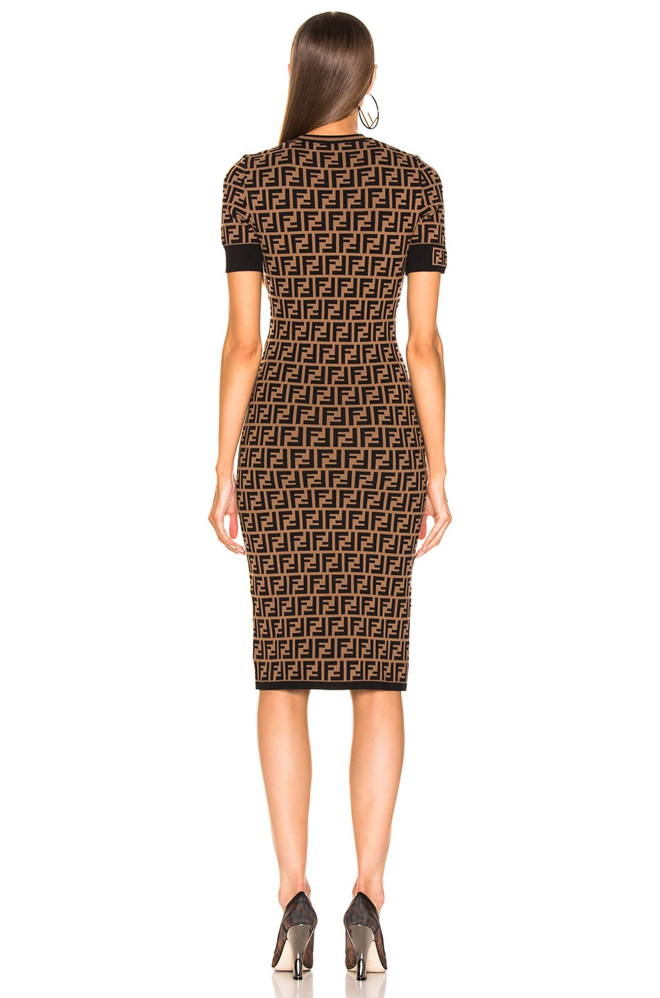 Image 4 of Fendi Knit Dress in Tobacco