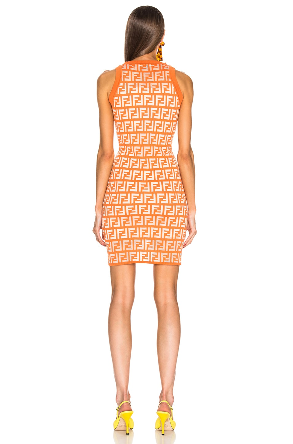 Image 3 of Fendi Logo Dress in Orange