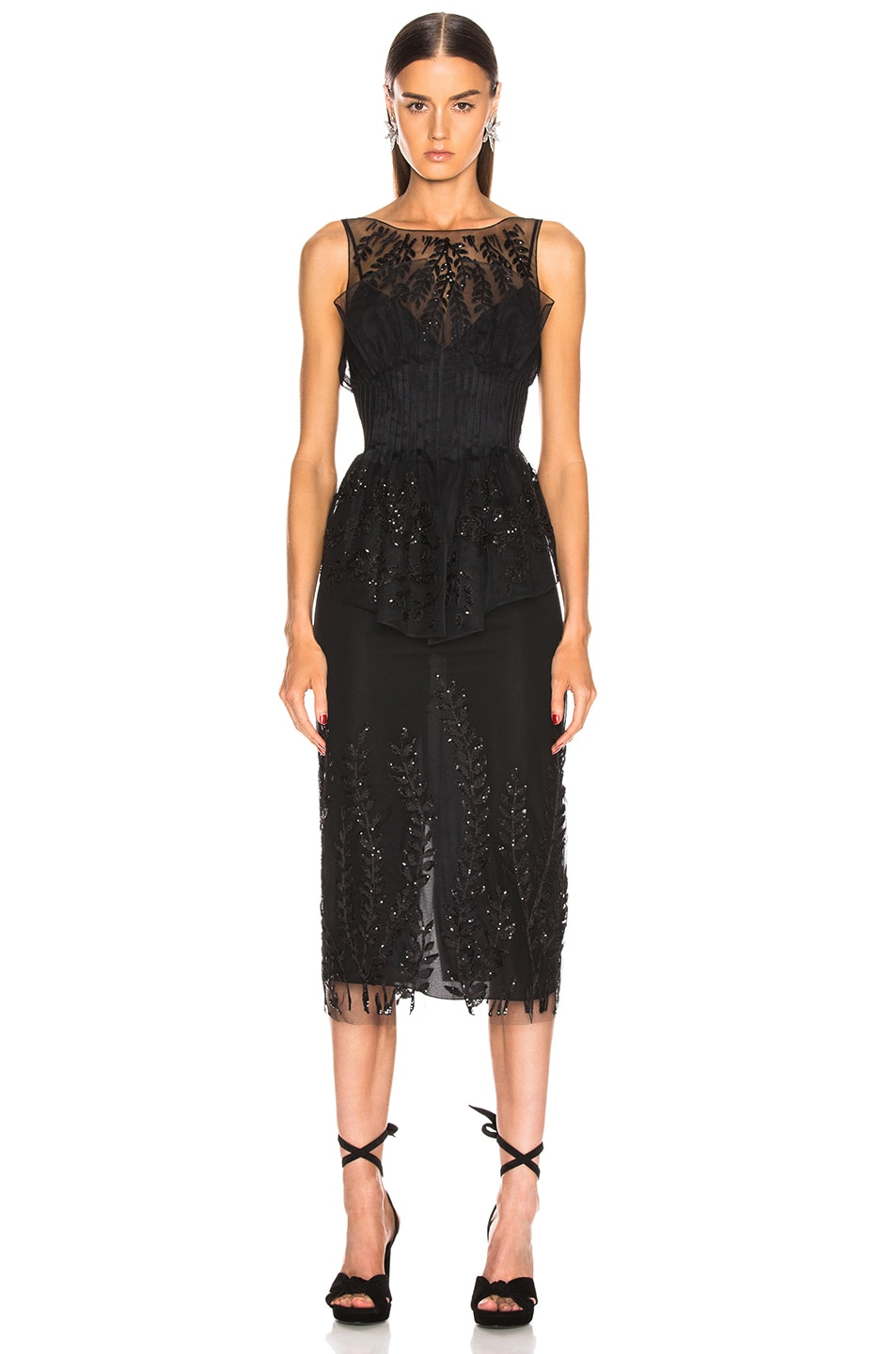 Image 3 of Fendi Sequin Midi Dress in Black