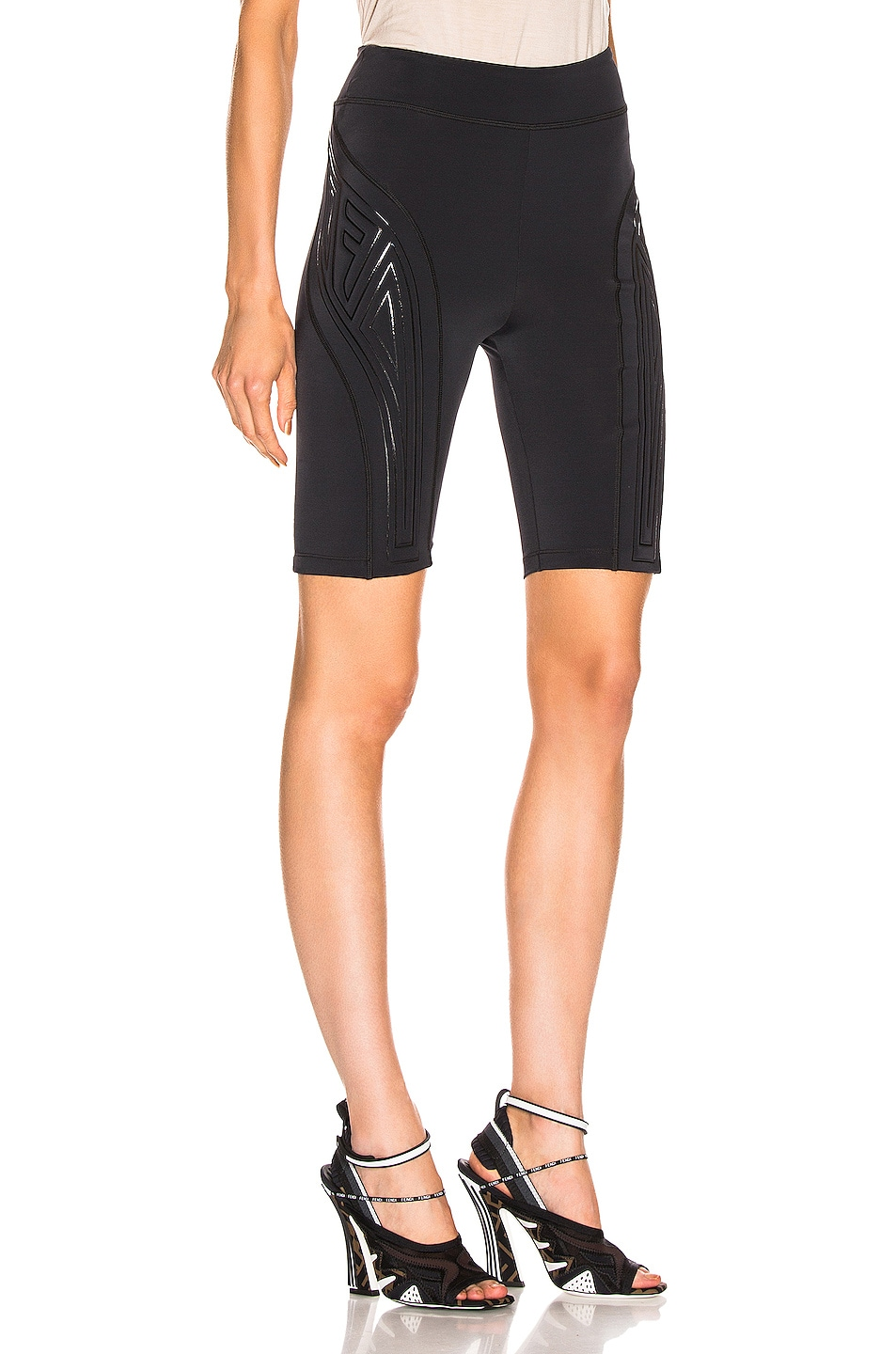 Image 2 of Fendi FFreedom Biker Short in Black