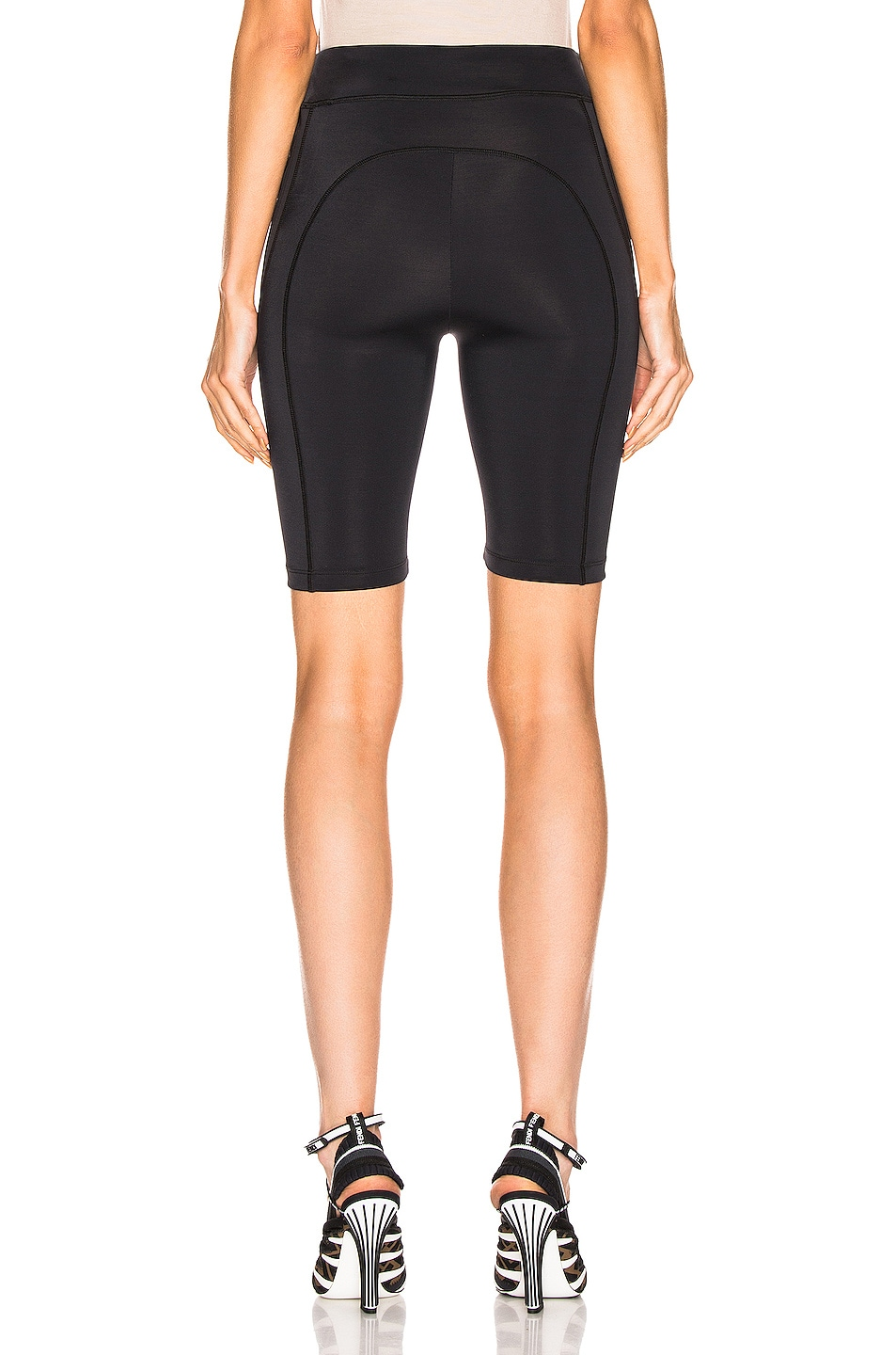 Image 4 of Fendi FFreedom Biker Short in Black