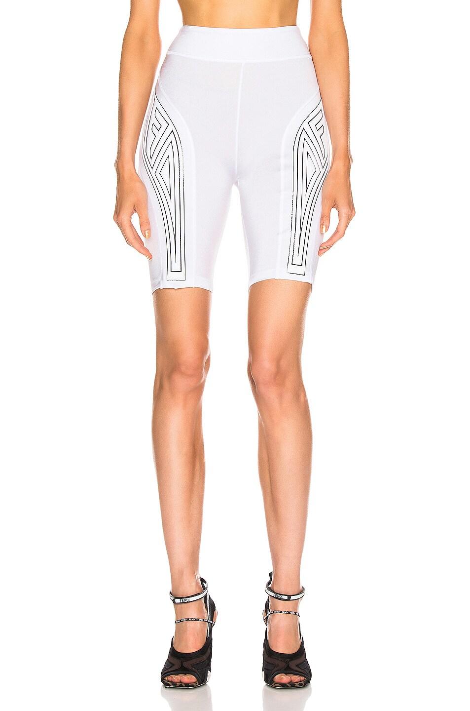 Image 1 of Fendi FFreedom Biker Short in White