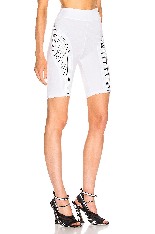 Image 2 of Fendi FFreedom Biker Short in White