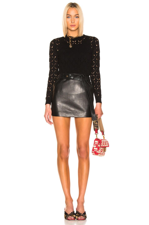 Image 4 of Fendi Crop Sweater in Black