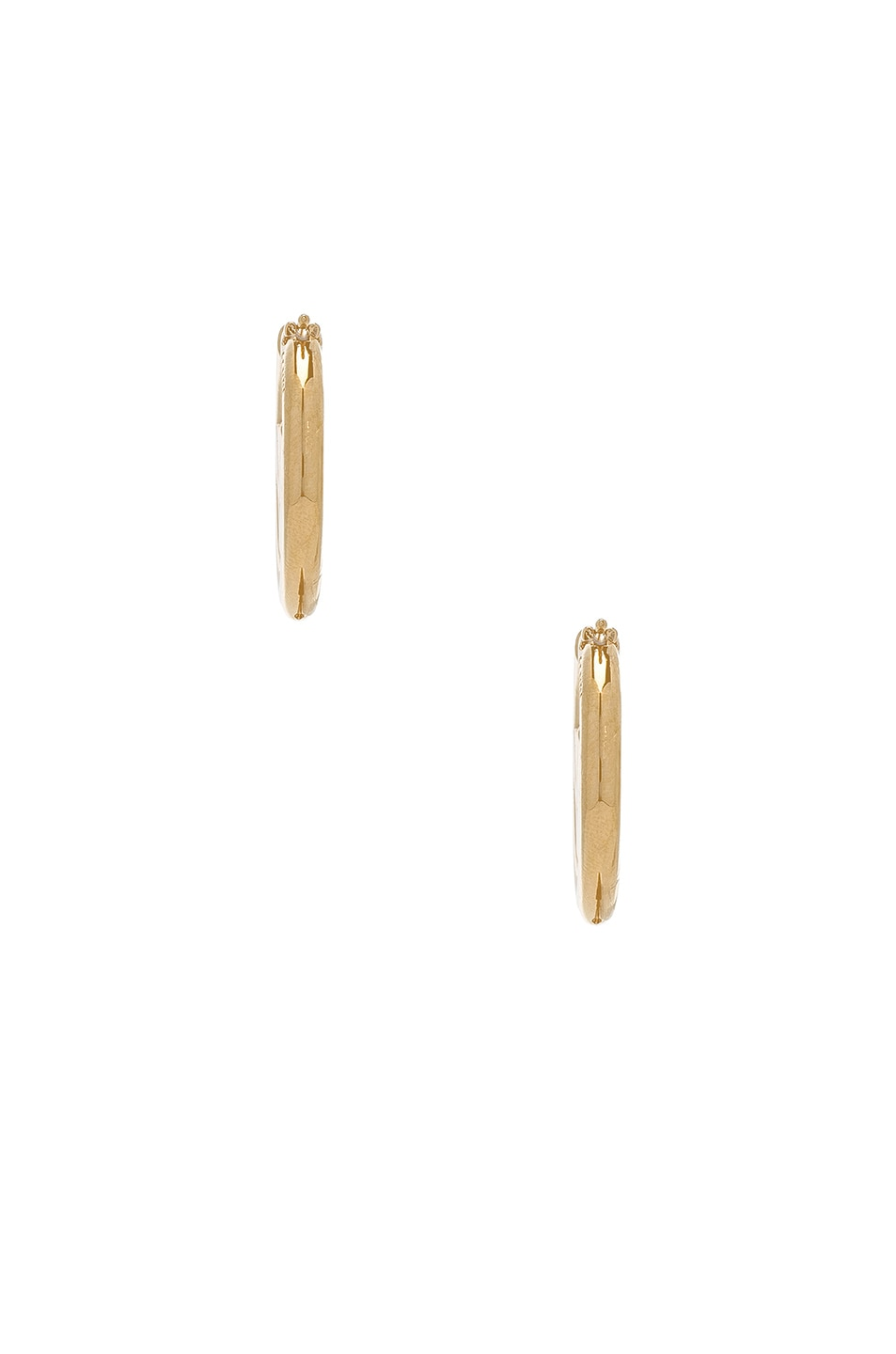 Image 2 of Fendi FF Mismatched Hoop Earrings in Gold
