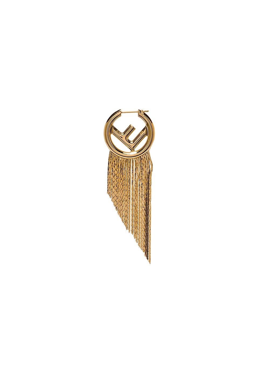 Image 1 of Fendi Logo Single Earring in Gold