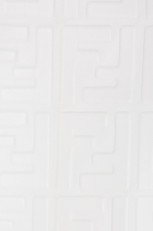Image 6 of Fendi Logo Embossed Leather Jacket in White