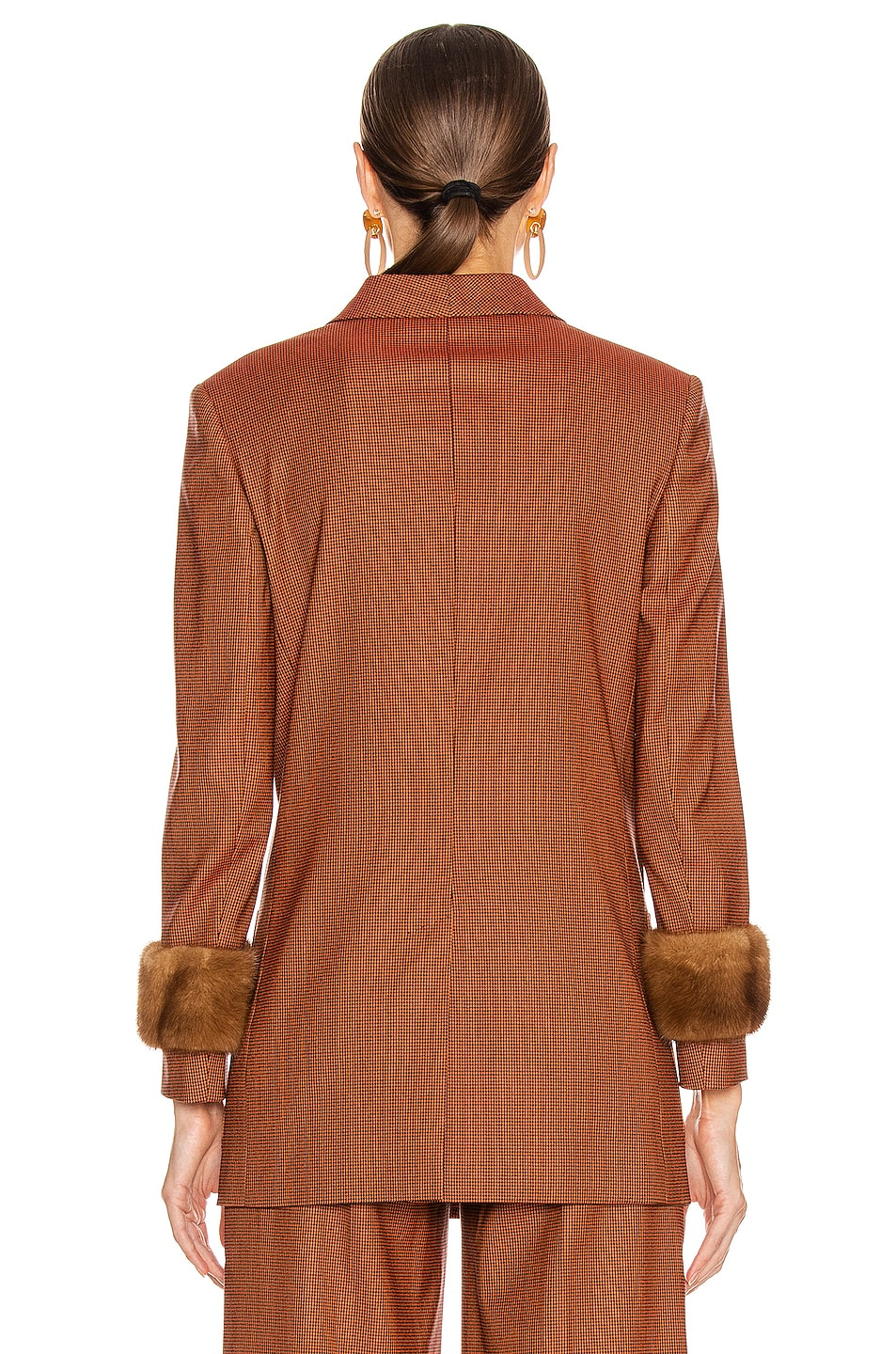 Image 3 of Fendi Double Breasted Blazer Jacket in Dark Red
