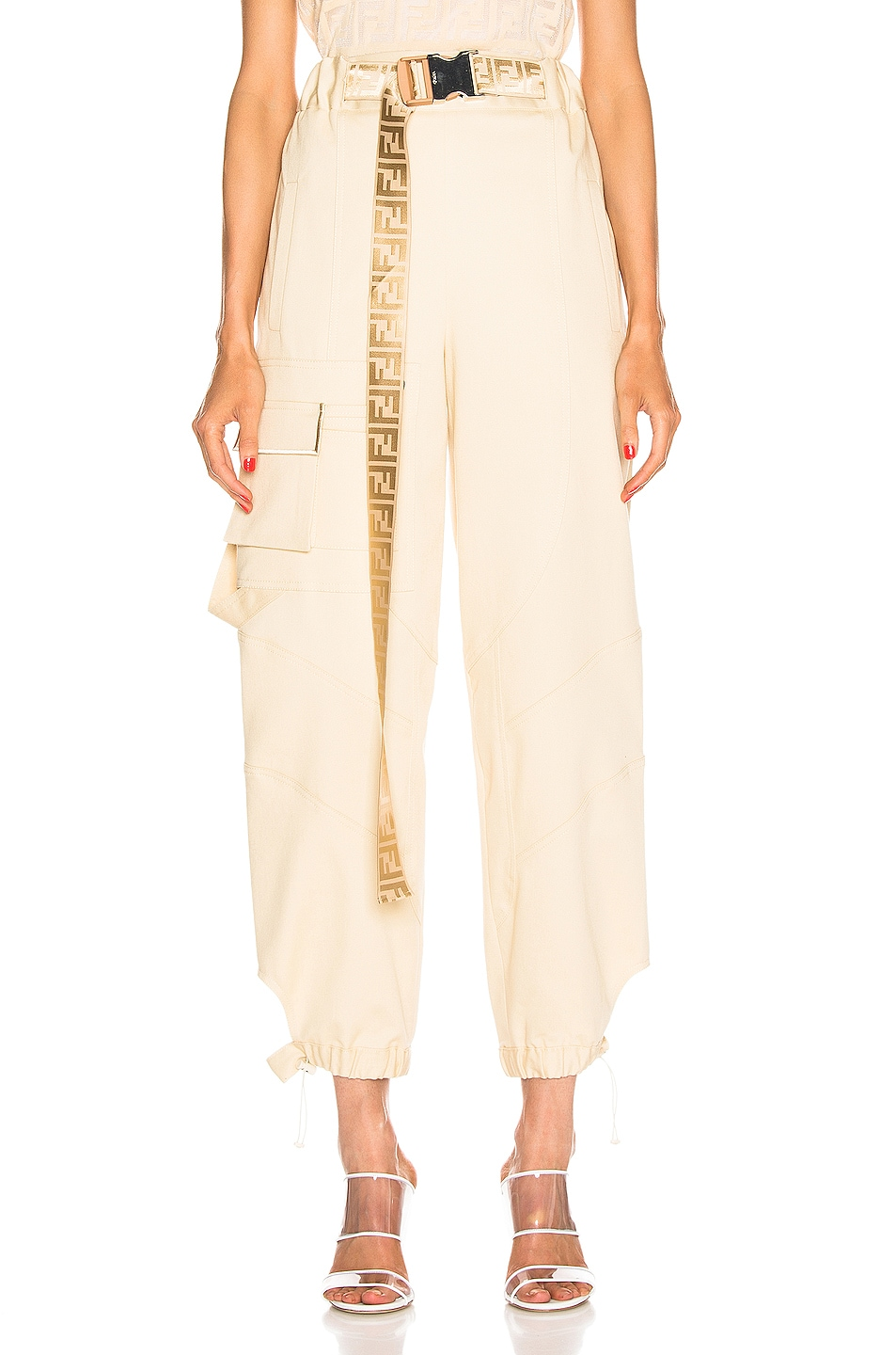 Image 1 of Fendi Cargo Pant in Guava