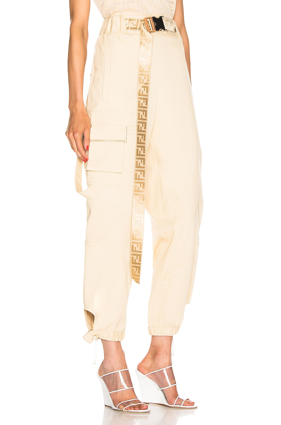 Image 2 of Fendi Cargo Pant in Guava