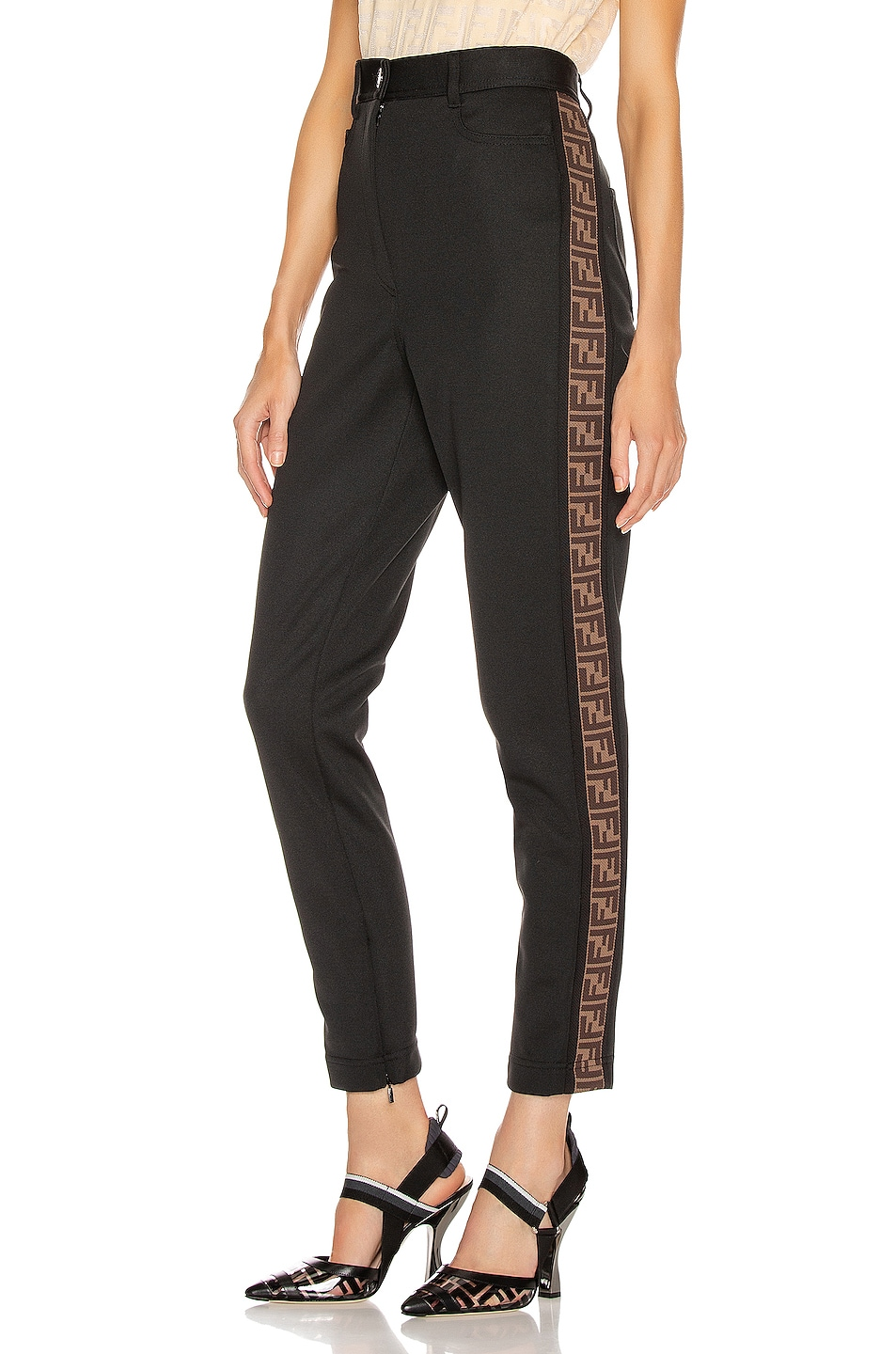 Image 1 of Fendi FF Tailored Pant in Black