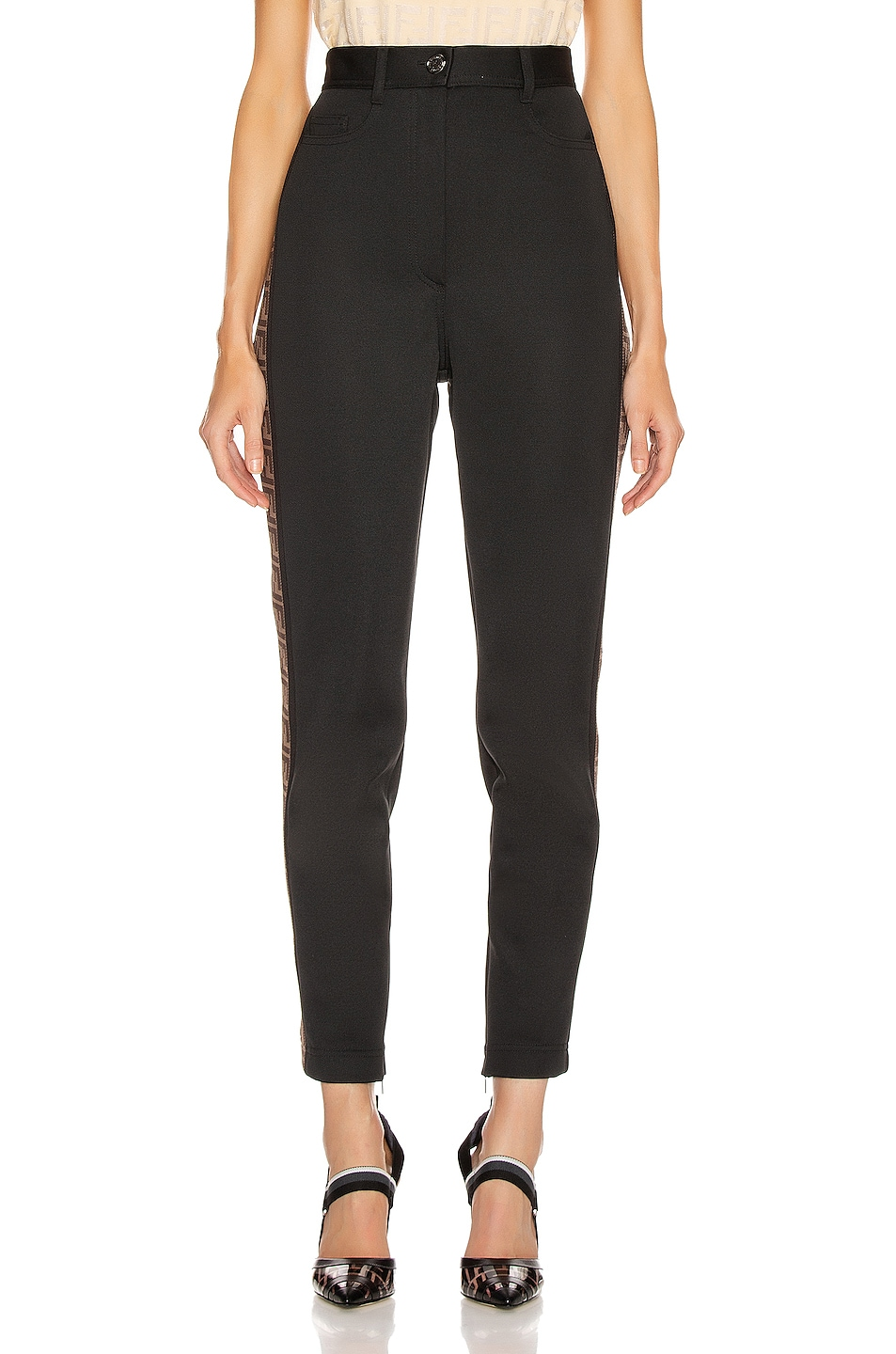 Image 2 of Fendi FF Tailored Pant in Black