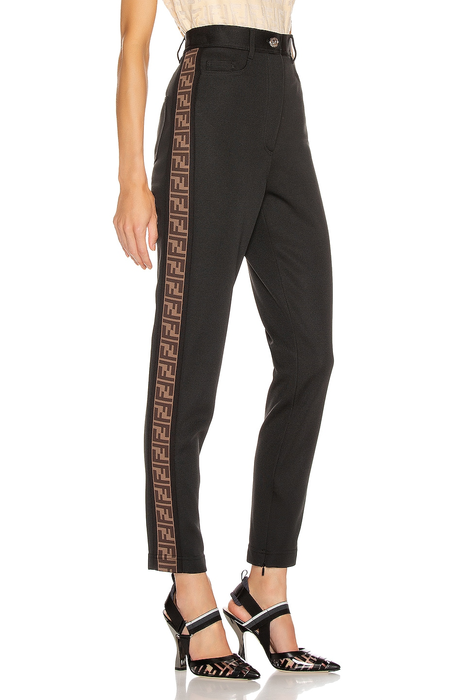 Image 3 of Fendi FF Tailored Pant in Black