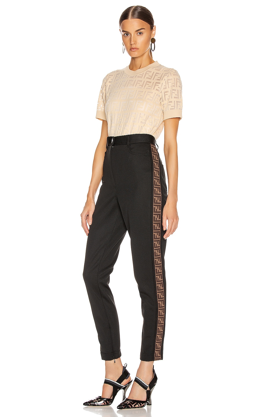 Image 5 of Fendi FF Tailored Pant in Black