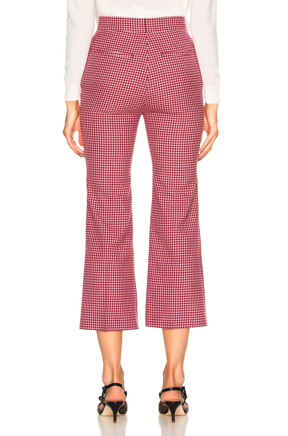 Image 3 of Fendi Micro Madras Wool Pants in Jelly