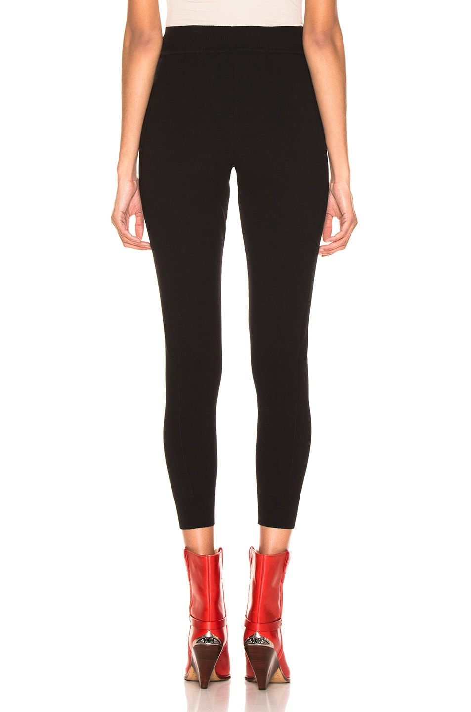 Image 3 of Fendi Logo Legging in Black