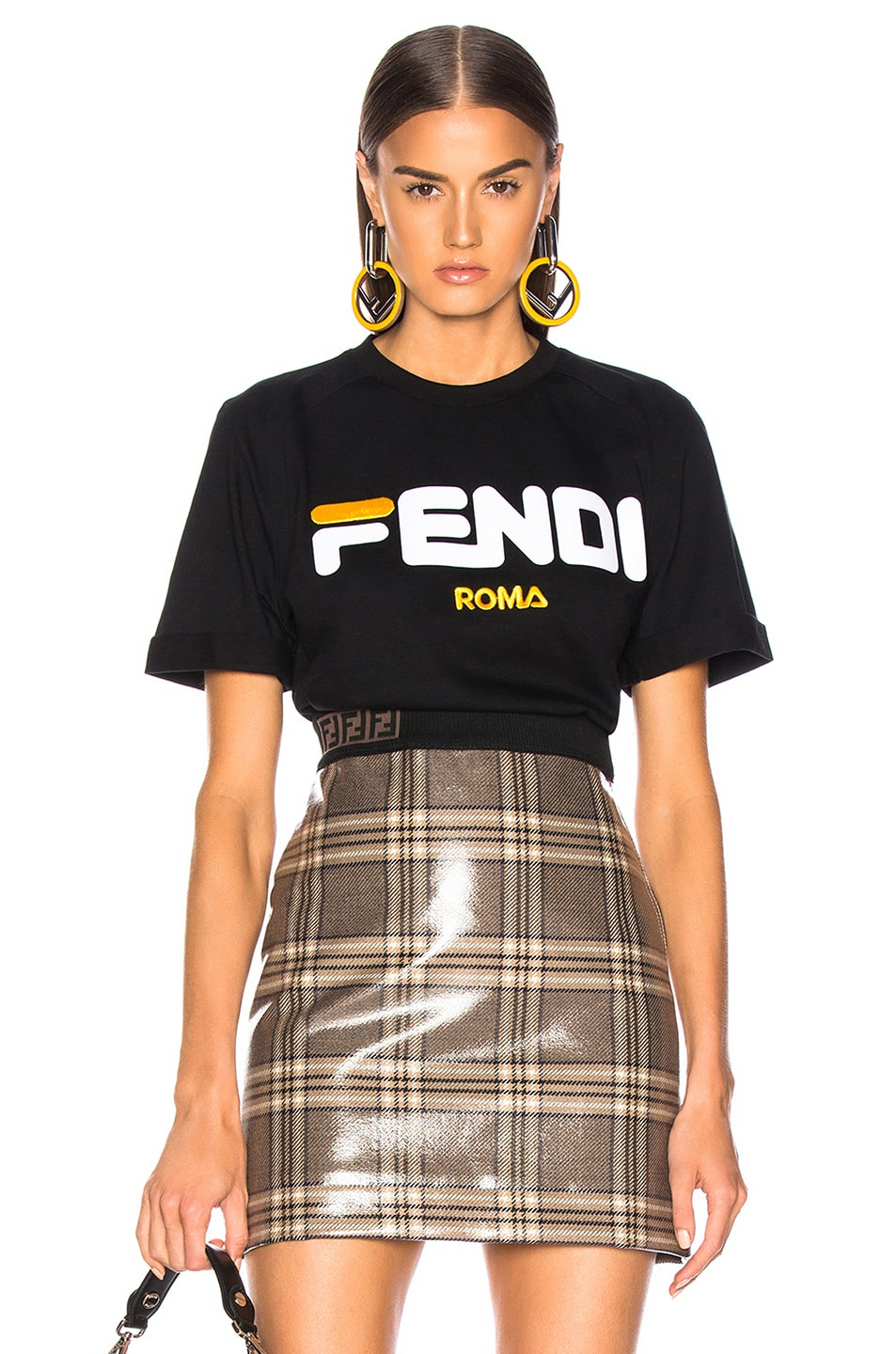 Image 1 of Fendi Fendi Mania Logo Tee in Black