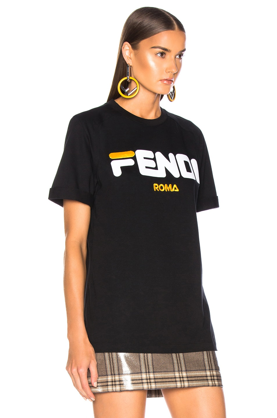 Image 3 of Fendi Fendi Mania Logo Tee in Black