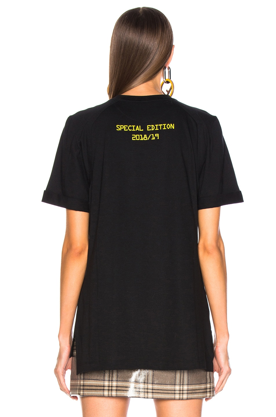 Image 4 of Fendi Fendi Mania Logo Tee in Black