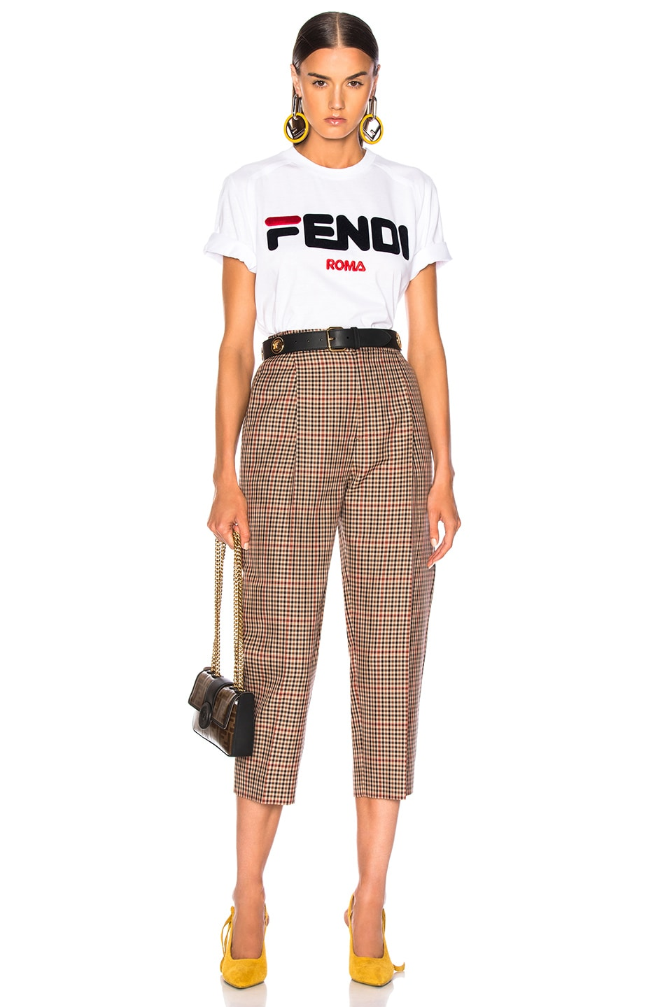 Image 5 of Fendi Fendi Mania Logo Tee in White