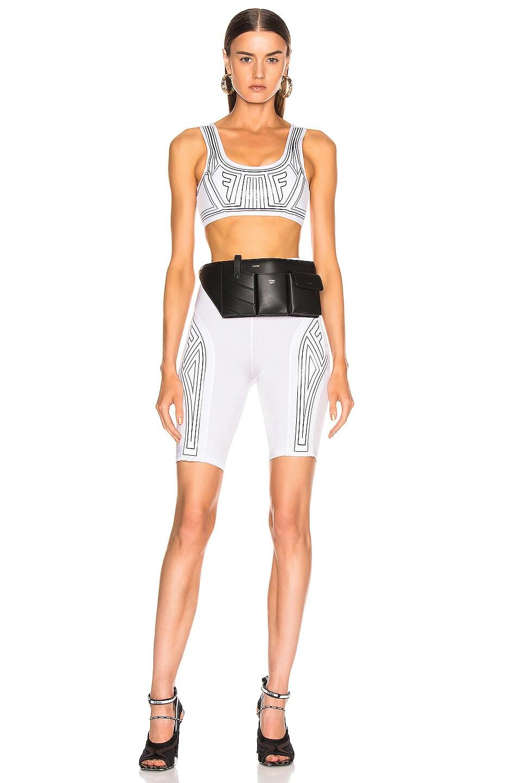 Image 4 of Fendi FFreedom Bra Top in White