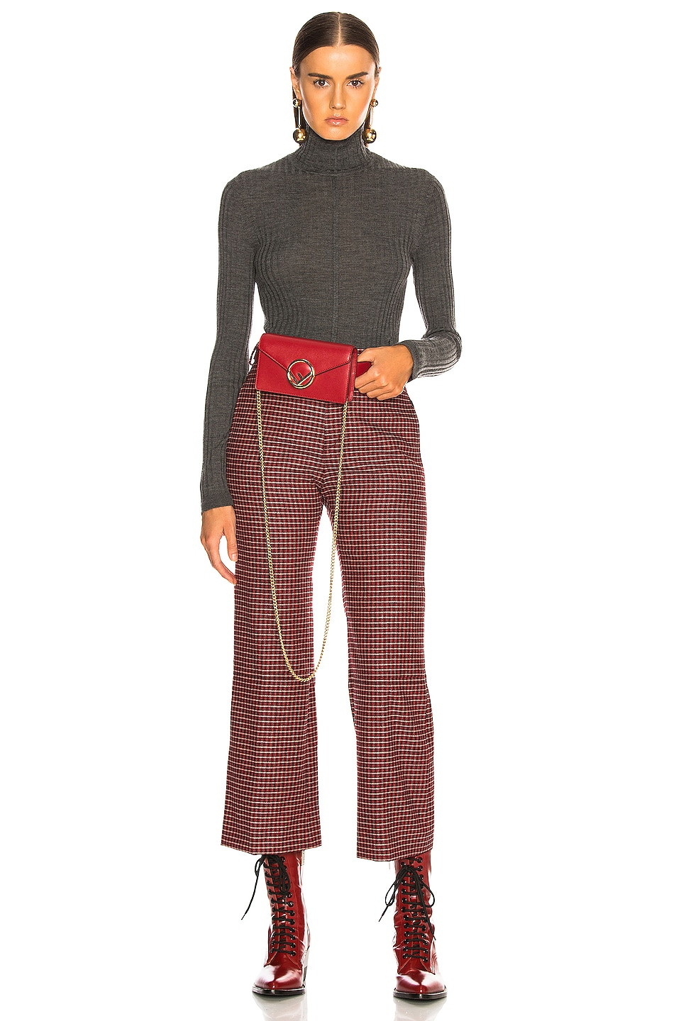 Image 2 of Fendi Hip Belt in Red