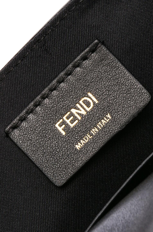 Image 7 of Fendi Logo Embossed Hip Belt in Black & Brown
