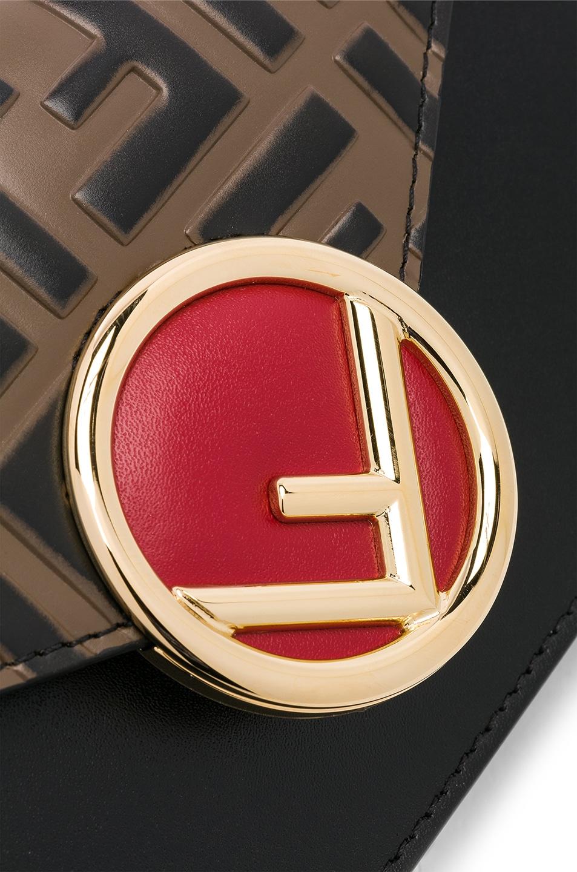 Image 8 of Fendi Logo Embossed Hip Belt in Black & Brown