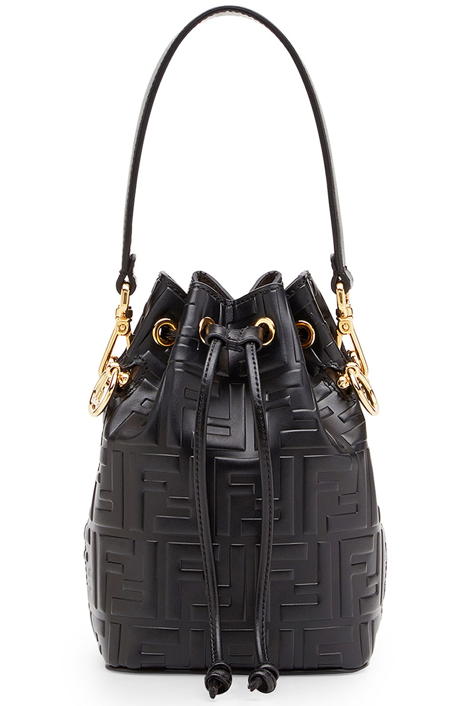 Image 1 of Fendi Logo Print Mon Tresor Crossbody Bag in Black