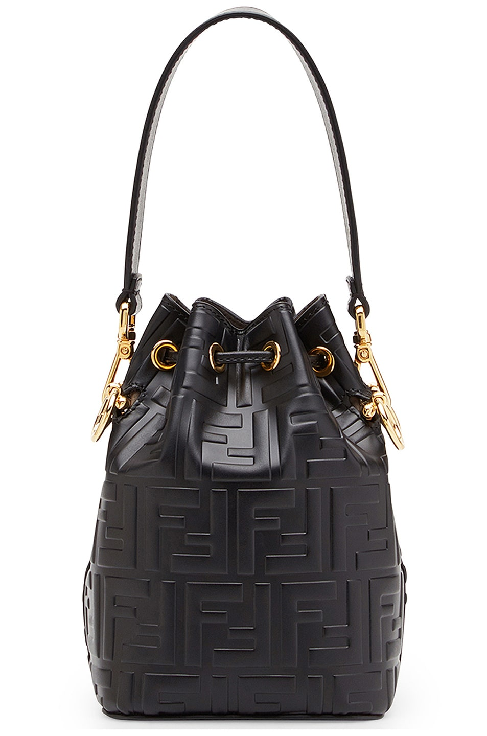 Image 3 of Fendi Logo Print Mon Tresor Crossbody Bag in Black