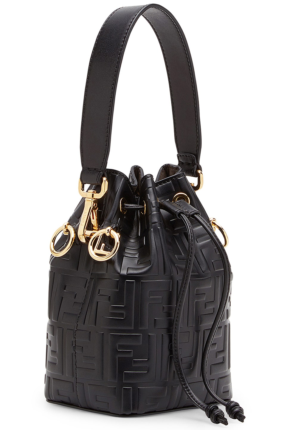 Image 4 of Fendi Logo Print Mon Tresor Crossbody Bag in Black