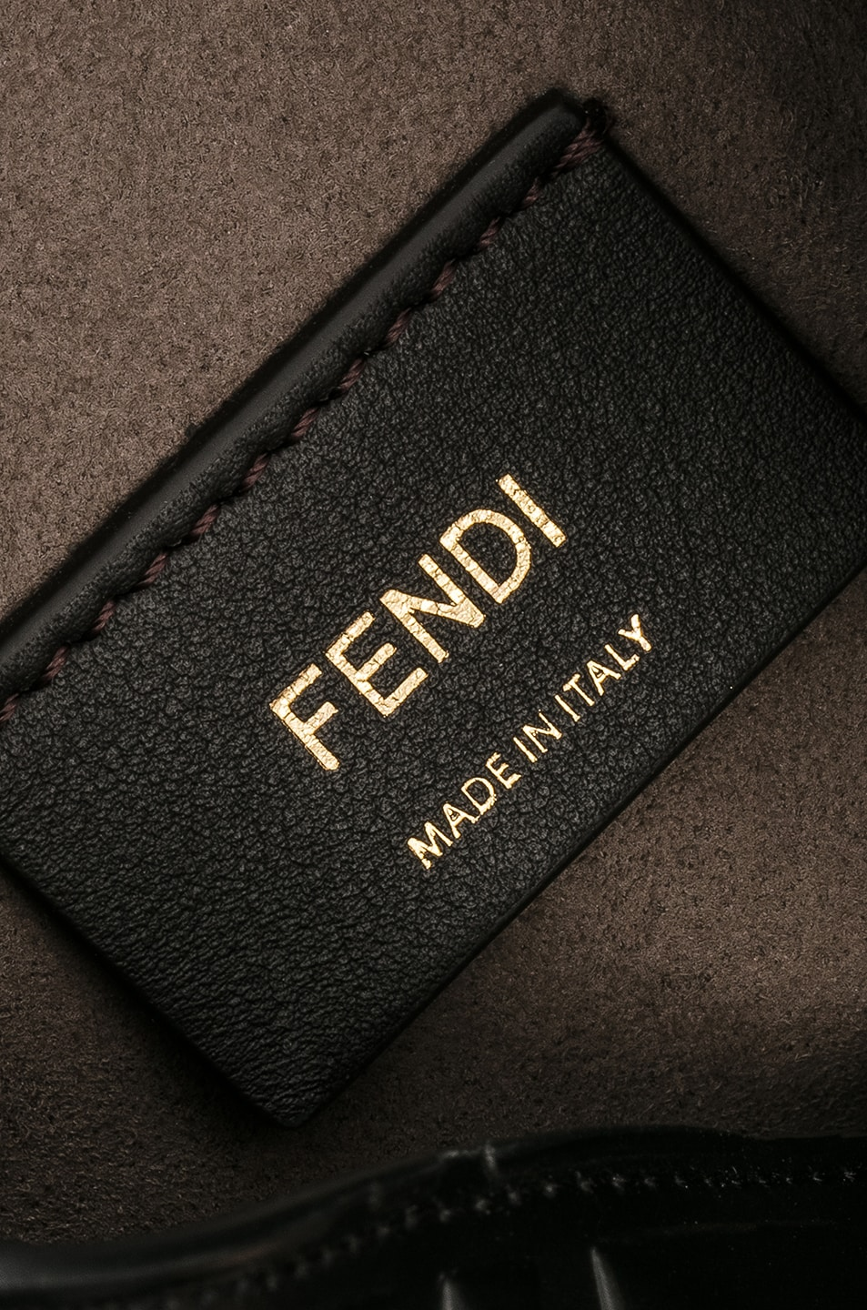 Image 5 of Fendi Logo Print Mon Tresor Crossbody Bag in Black