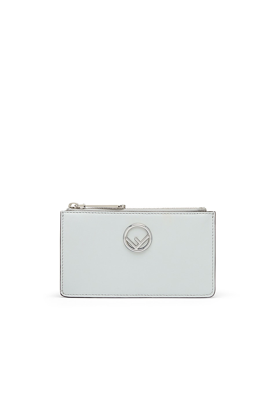 Image 1 of Fendi Zip Card Case in Pearl Grey