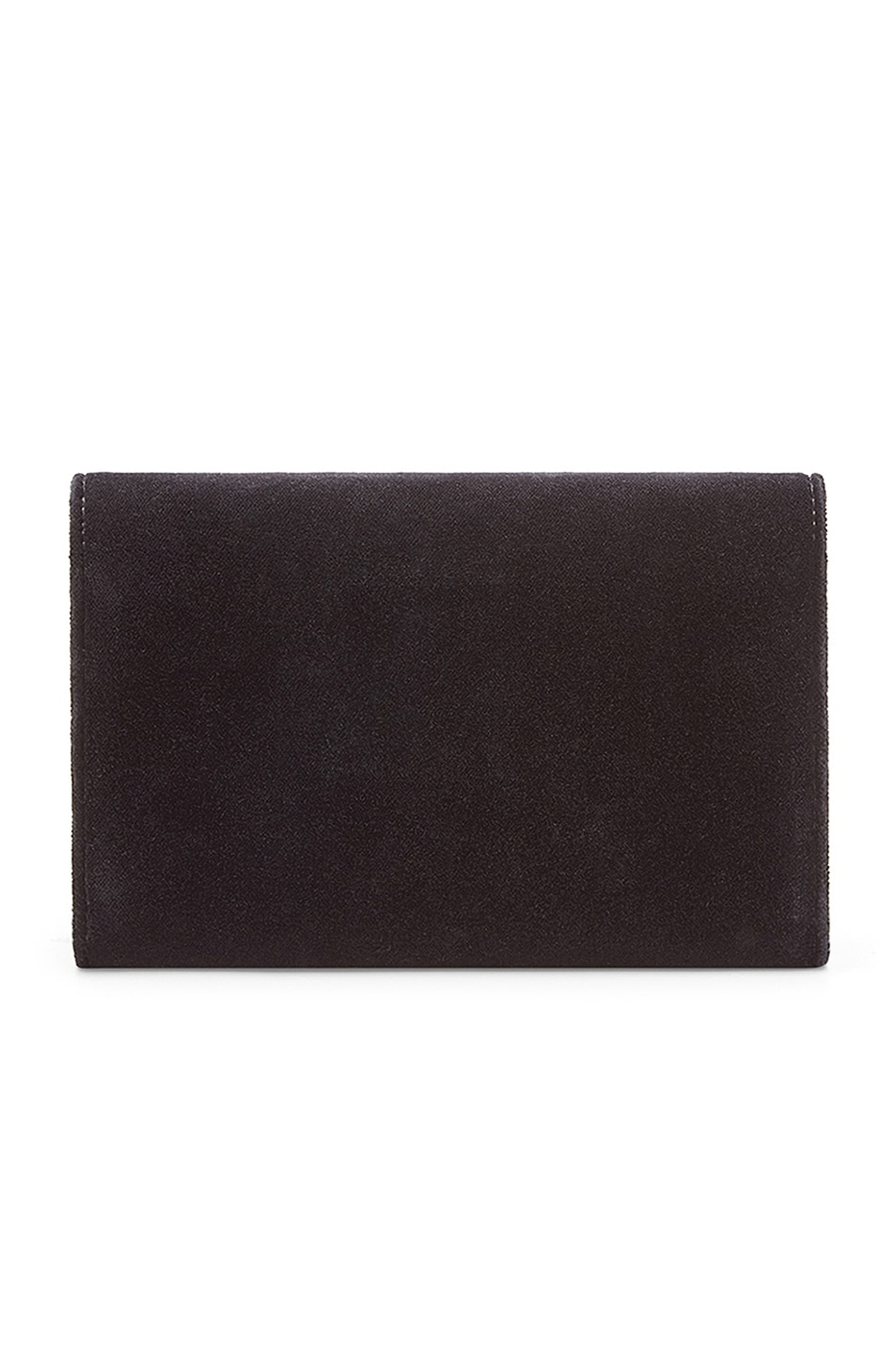 Image 3 of Fendi Velvet Wallet on Chain in Black