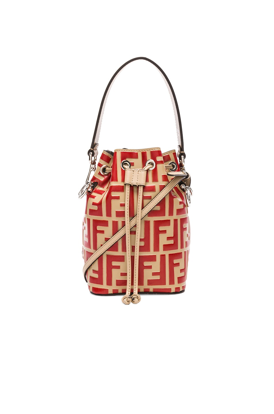 Image 1 of Fendi Logo Print Mon Tresor Crossbody in Starch   Flame c26bcf4e55a9c