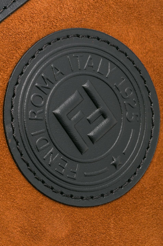 Image 8 of Fendi Mini Suede Logo Emblem Camera Case in Brown & Black