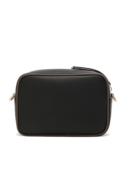 Image 3 of Fendi Mini Logo Emblem Camera Case in Black, Brown & Strawberry