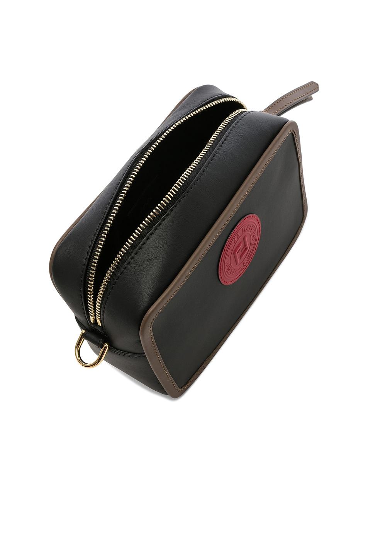 Image 5 of Fendi Mini Logo Emblem Camera Case in Black, Brown & Strawberry