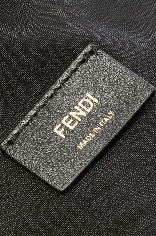 Image 7 of Fendi Mini Logo Emblem Camera Case in Black, Brown & Strawberry