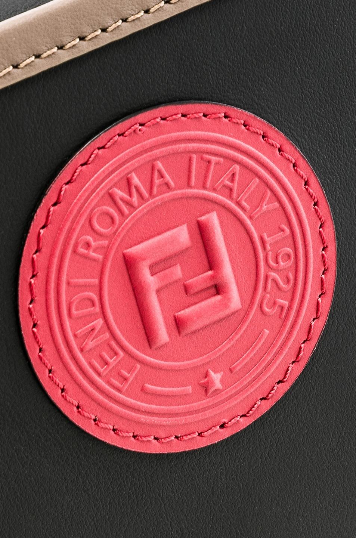 Image 8 of Fendi Mini Logo Emblem Camera Case in Black, Brown & Strawberry