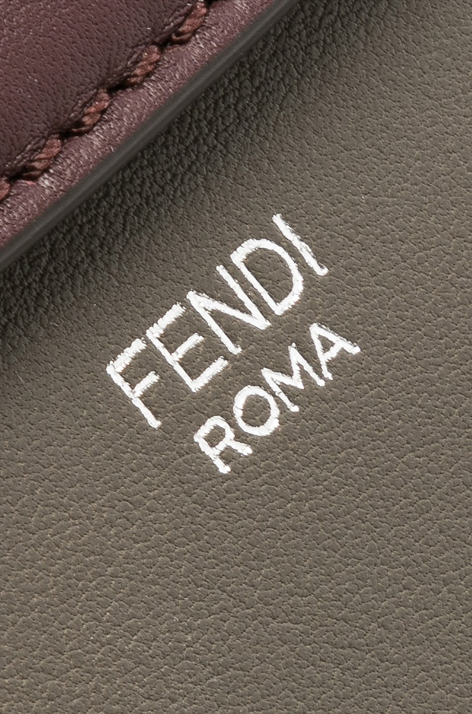 Image 8 of Fendi Mini By The Way in Coal & Plaster